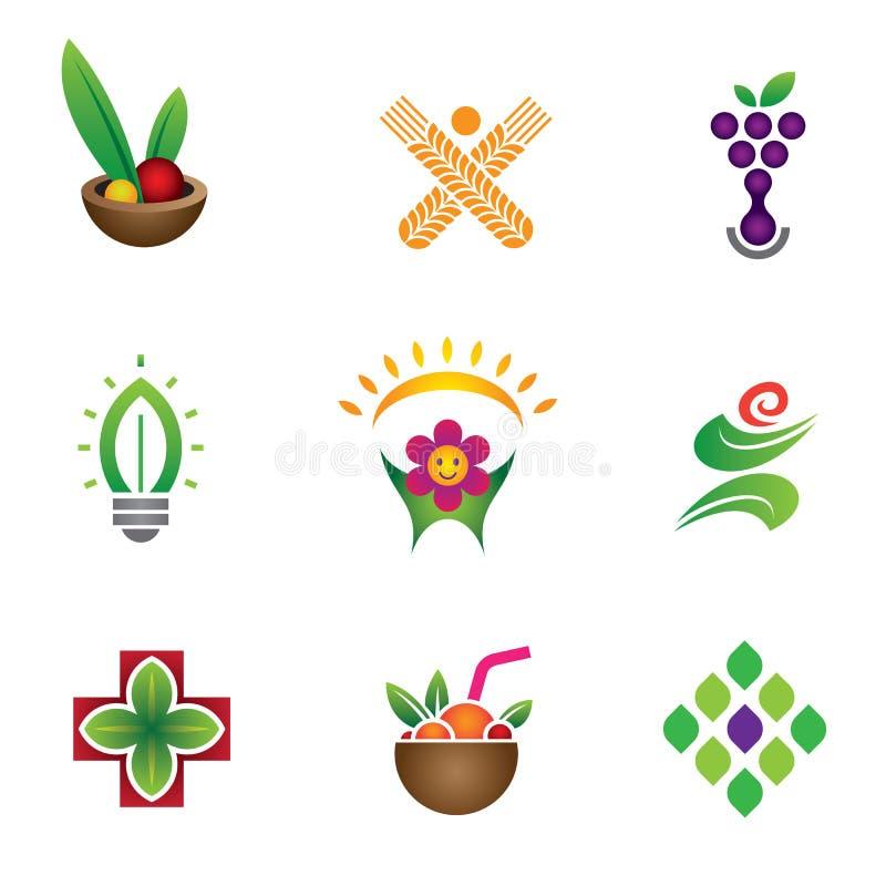 Simbolo unico di salute & dell'alimento illustrazione vettoriale