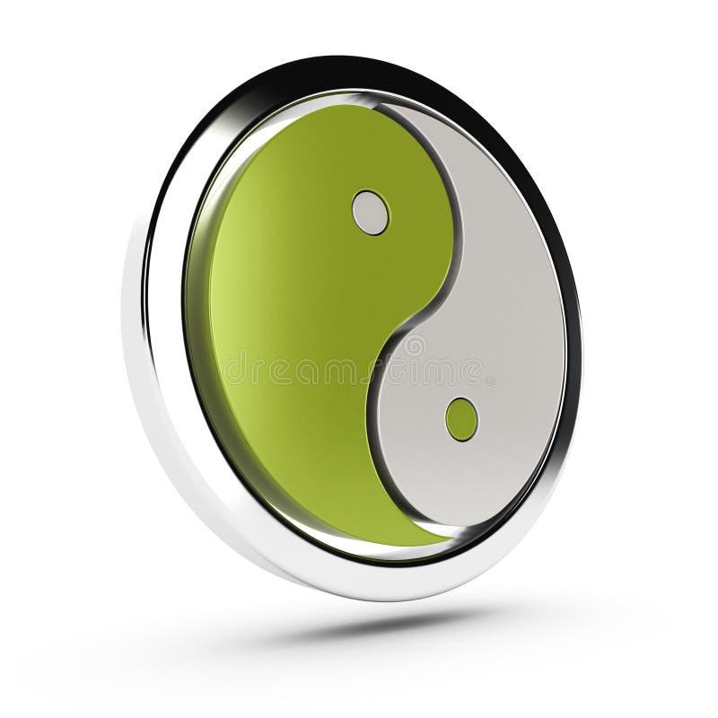 Simbolo verde del yang del yin royalty illustrazione gratis