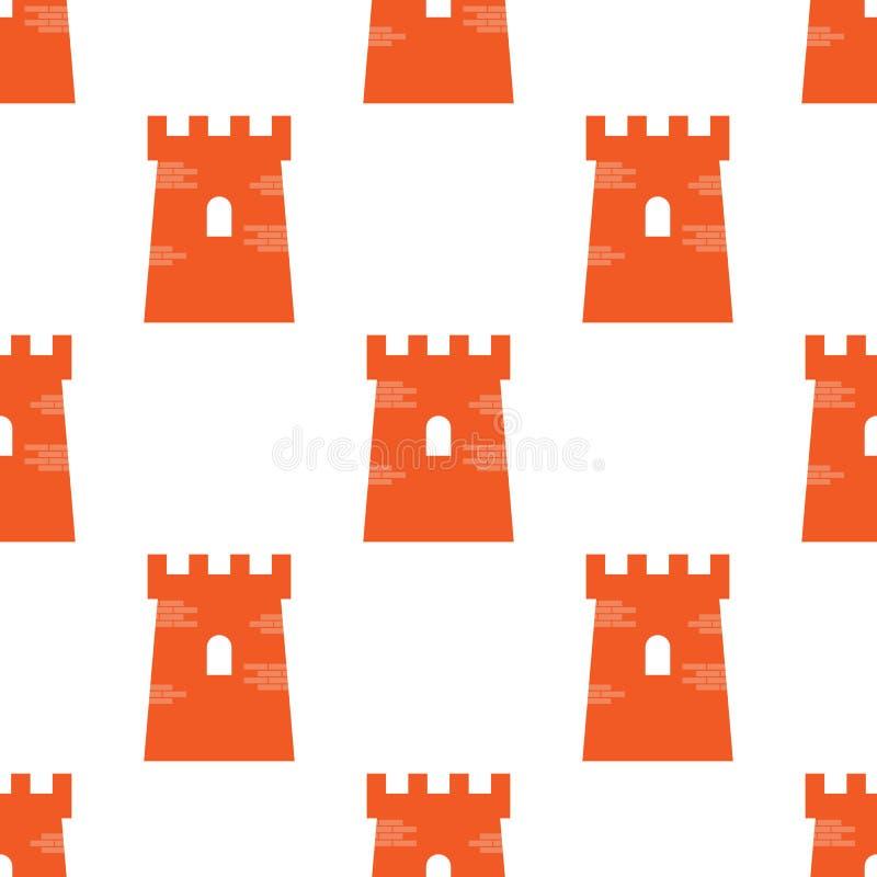 Simbolo vittoriano autentico della torre del castello nella ripetizione senza cuciture per qualsiasi uso Illustrazione di vettore illustrazione di stock