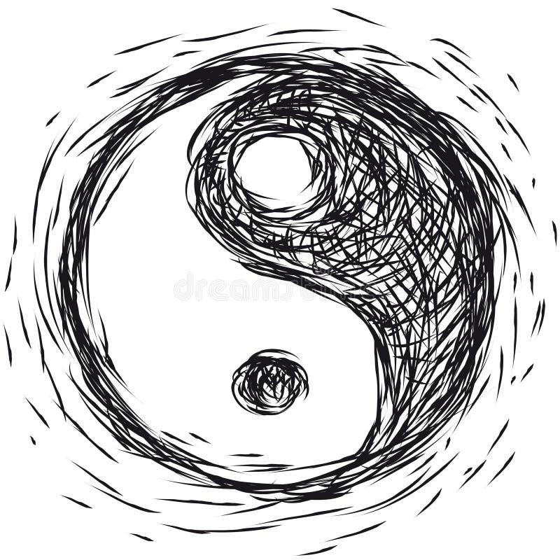 Simbolo Ying yang illustrazione vettoriale
