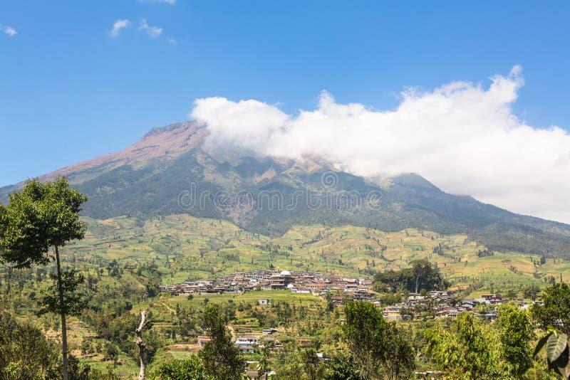 Simbungvulkaan in Java in Indonesië stock fotografie