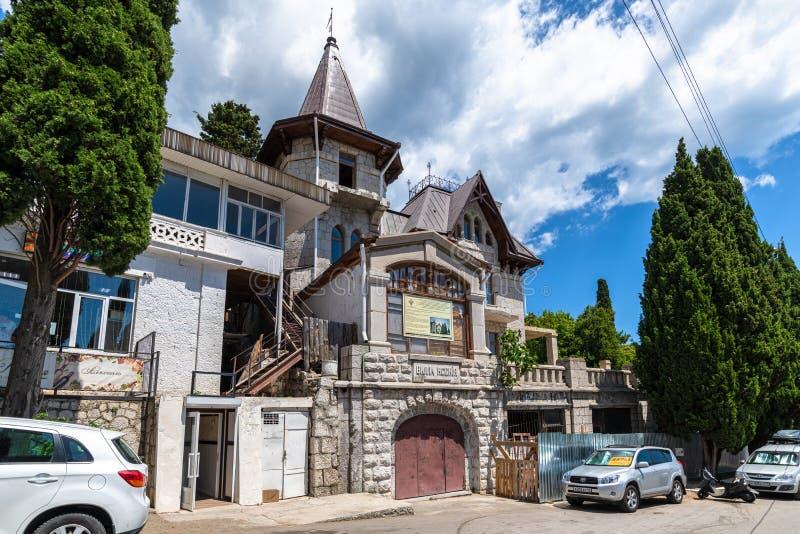 Simeiz, Krim - 1 juli 2019 Villa Ksenia - site voor cultureel erfgoed royalty-vrije stock foto's