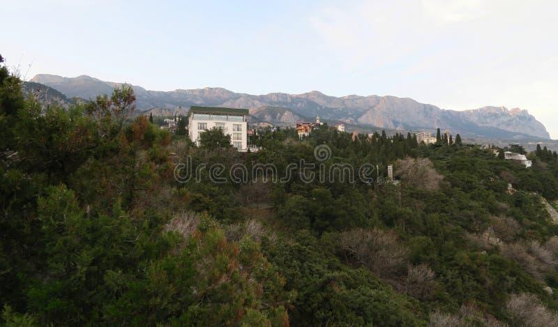 Simeiz landscapes near the Black sea stock photo