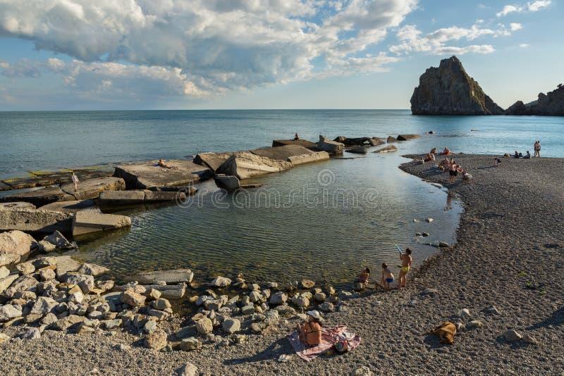Coast of the Black Sea of Crimean Peninsula royalty free stock images