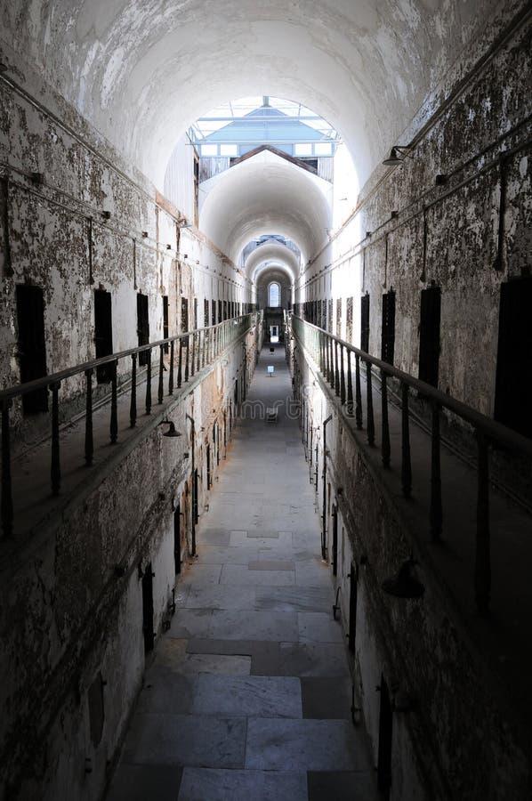 Simetría arquitectónica en la cárcel del este del estado imagen de archivo libre de regalías