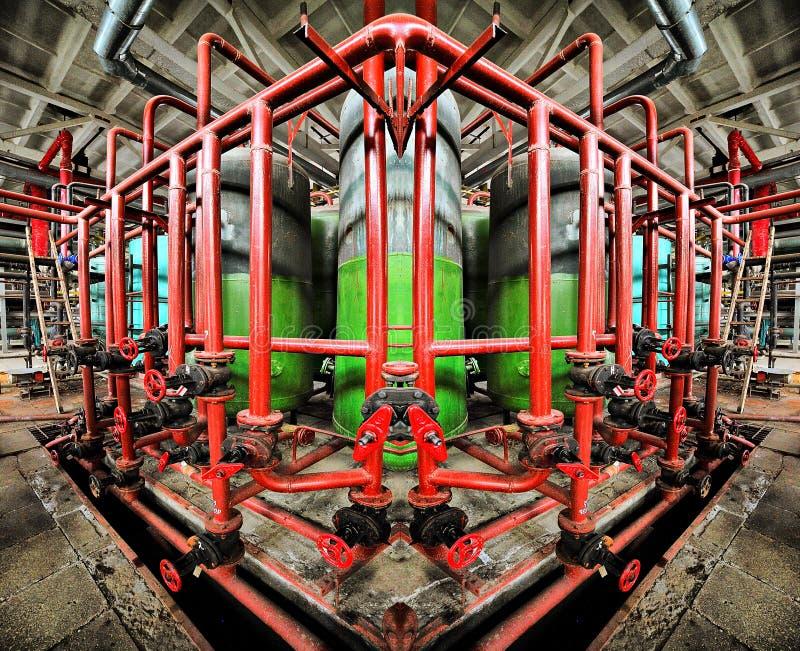 Simetría industrial fotografía de archivo