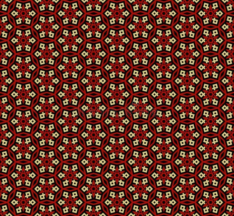 Simetr?as decorativas del modelo incons?til, ejemplo del vector del modelo del ornamento libre illustration
