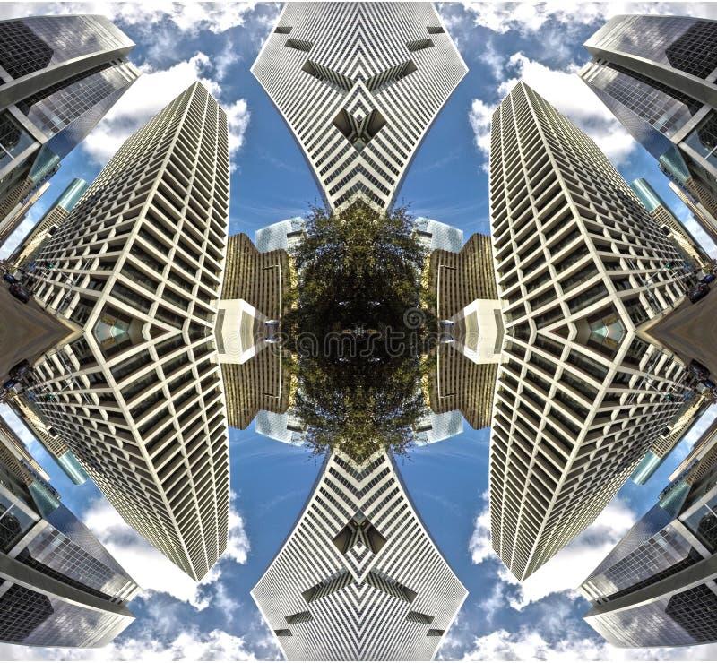 Simetria de construção artística imagens de stock