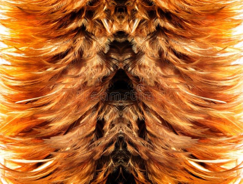 simetry brauner Pelz von der Feder lizenzfreies stockfoto
