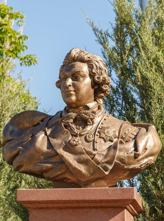 Simferopol Krim - Maj 9, 2016: Byst - Serene Highness Prince royaltyfri bild