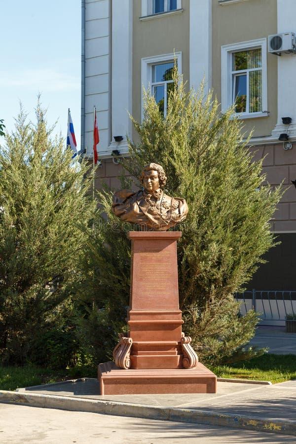 Simferopol Krim - Maj 9, 2016: Byst - Serene Highness Prince royaltyfri fotografi