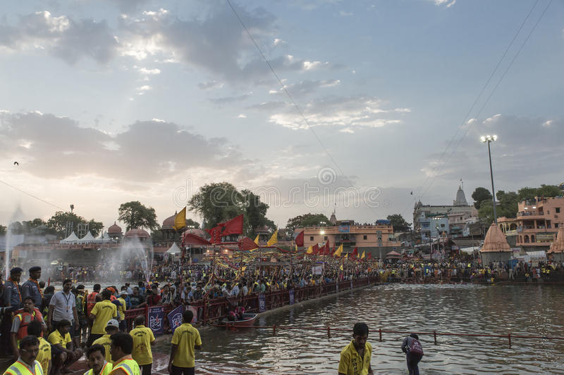 Simhasth Maha Kumbh Ujjain, 2016 стоковые изображения