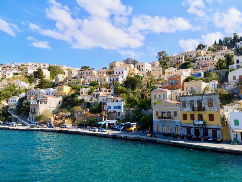 Simi bello, Symi, Grecia immagine stock