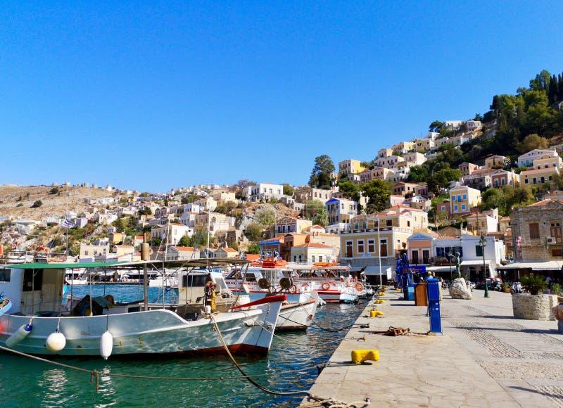 Simi bello, Symi, Grecia fotografie stock