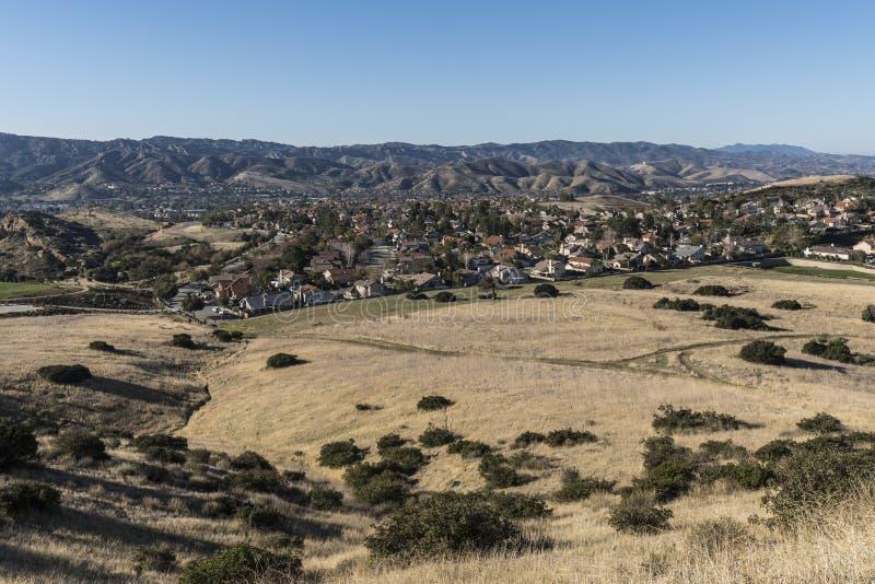 Simi Dolinni Podmiejscy pola w Ventura okręgu administracyjnym Kalifornia obraz royalty free