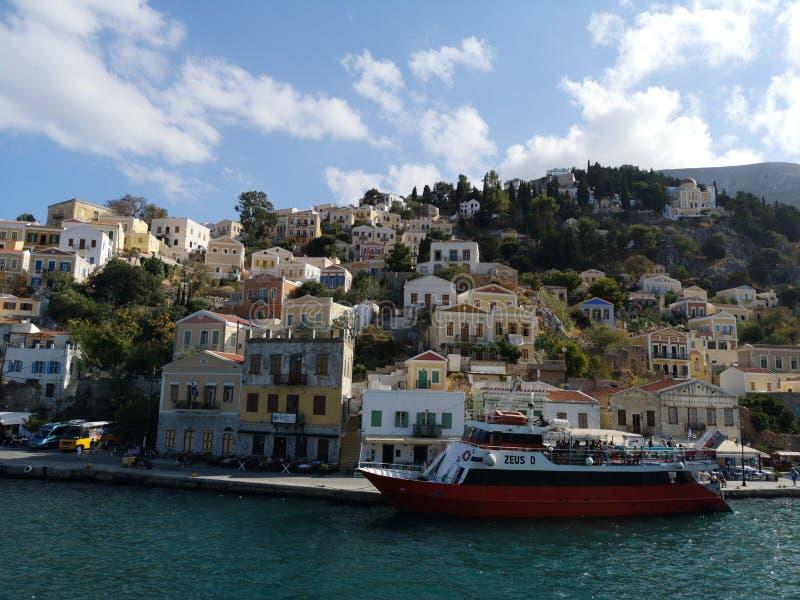 Simi, Grecia fotografie stock libere da diritti