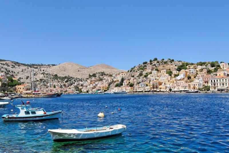 Download Simi Harbor stock photo. Image of harbor, greek, transport - 15400138