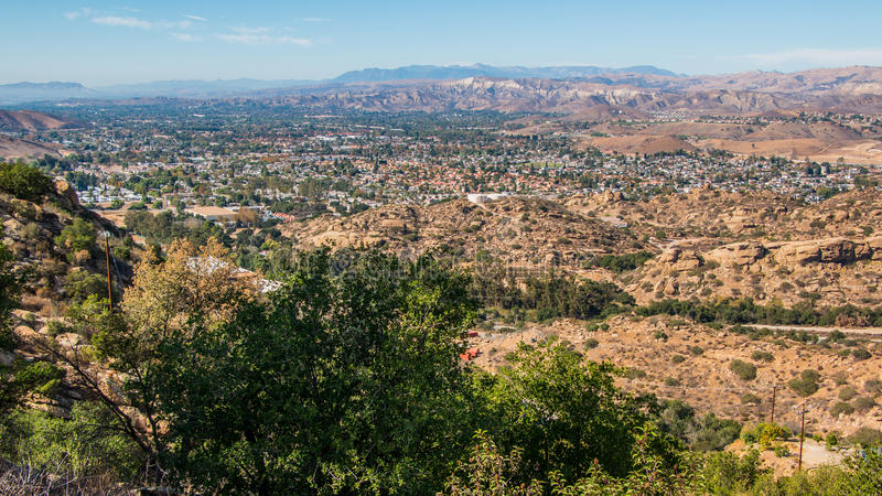Simi Valley California. Simi Valley, California as seen from Box Canyon Road. Located in the Simi Valley in the county of Ventura, northwest of Los Angeles stock photos