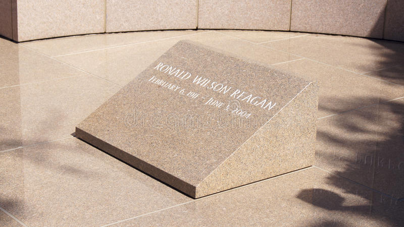 SIMI VALLEY, CALIFORNIA, UNITED STATES - OCT 9th, 2014: President Ronald Reagan`s final resting place at the. Presidential Library stock photos