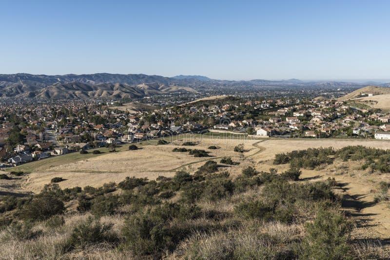 Simi Valley Suburban Fields perto de Los Angeles Califórnia fotos de stock royalty free