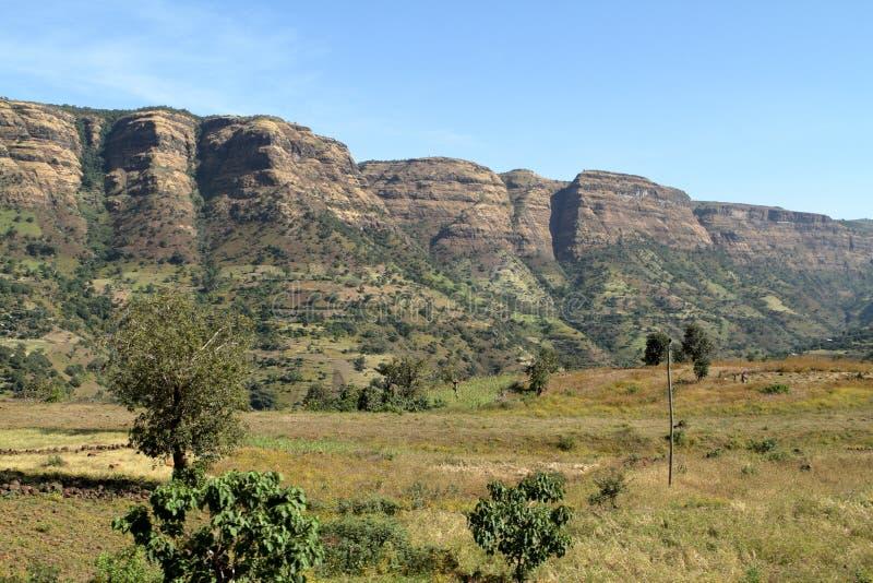 Simien山的风景在埃塞俄比亚 库存照片