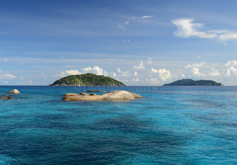 Similan海岛在安达曼海,泰国 免版税库存图片