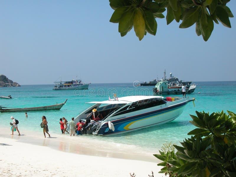 similan ταχύτητα νησιών βαρκών υψη&la στοκ φωτογραφία με δικαίωμα ελεύθερης χρήσης
