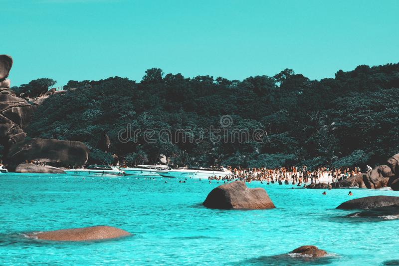 Similan-Inselstrand stockbild