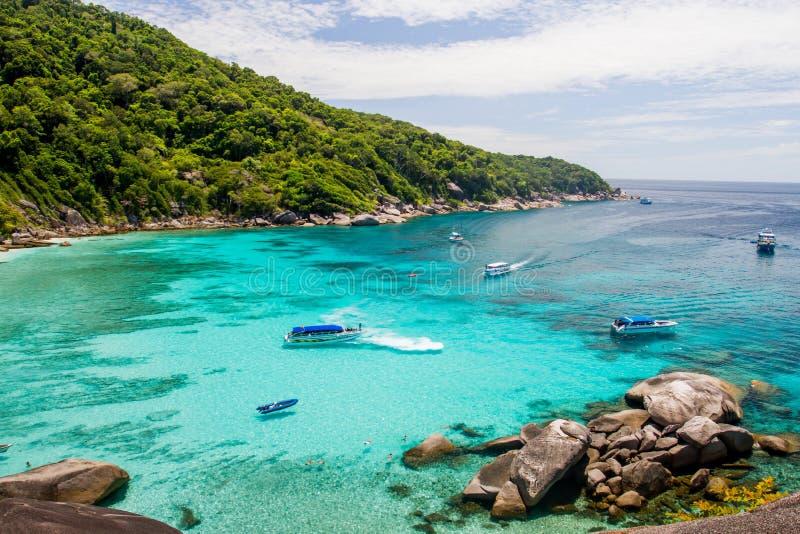 Similan island. Sea view in thailand royalty free stock image