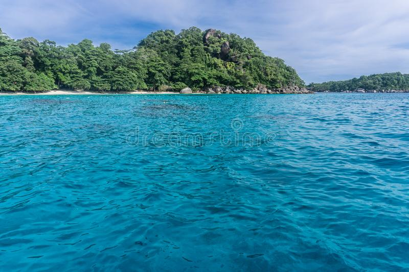 Similan Island, Thailand. 3 day liveaboard SCUBA trip - going to beach royalty free stock image
