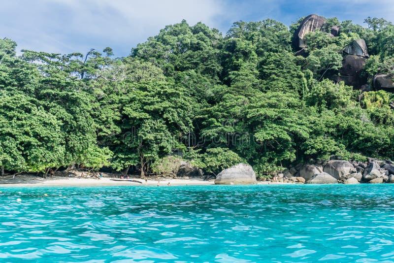 Similan Island, Thailand. 3 day liveaboard SCUBA trip - going to beach royalty free stock photos