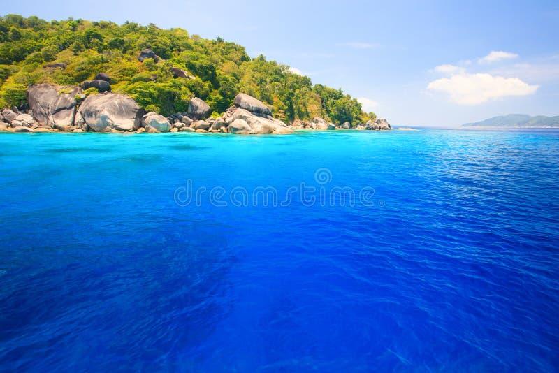 Similan wyspy w lato czasie fotografia stock