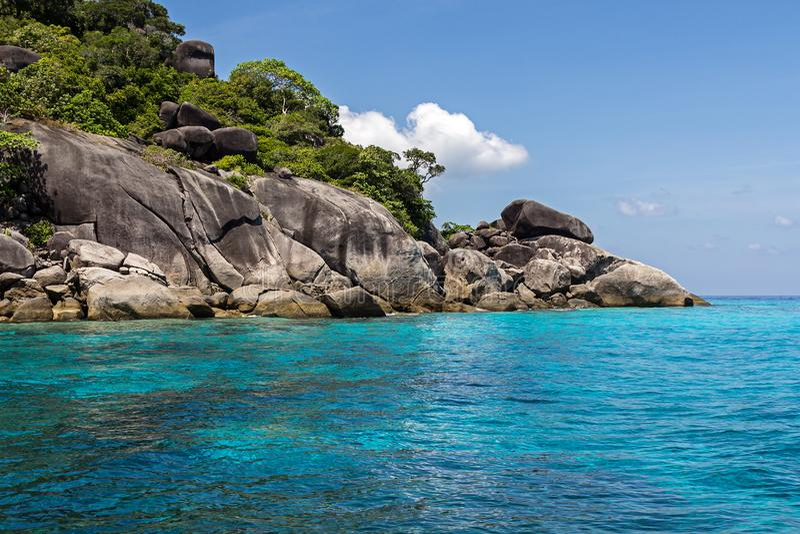 Similaneiland in Andaman-overzees, Thailand, Zuid-Azige royalty-vrije stock afbeelding