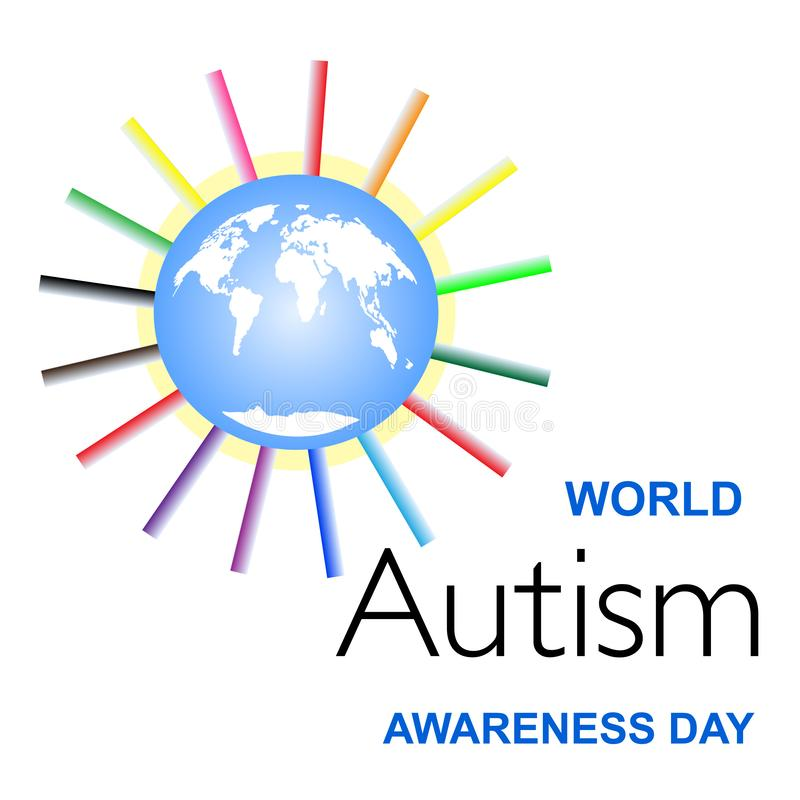 We are Similar but Individual. Autism Awareness as Global Problem royalty free illustration