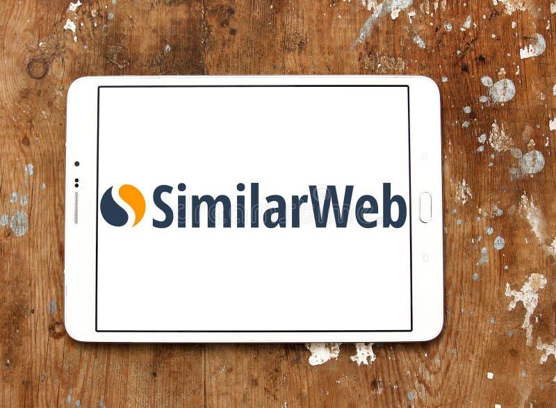 SimilarWeb företagslogo fotografering för bildbyråer