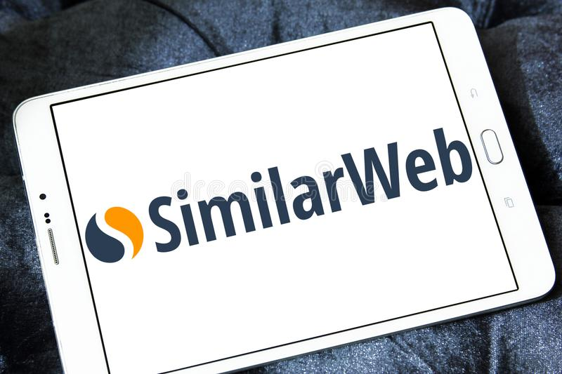 SimilarWeb-Firmenlogo stockbild