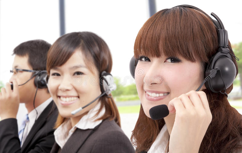 Download Similing Business Customer Service Team Stock Photo - Image of computer, office: 18604254