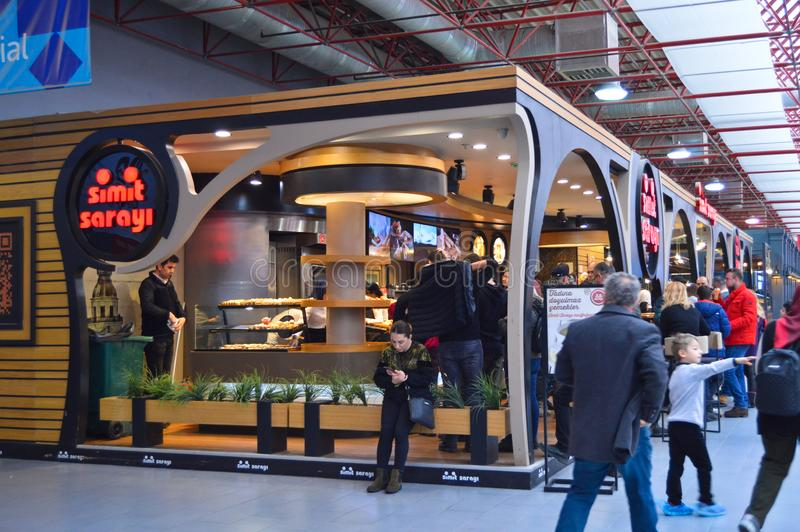 Simit Sarayi in Istanbul Yesilkoy Cnr Expo Exhibition Center. stock image