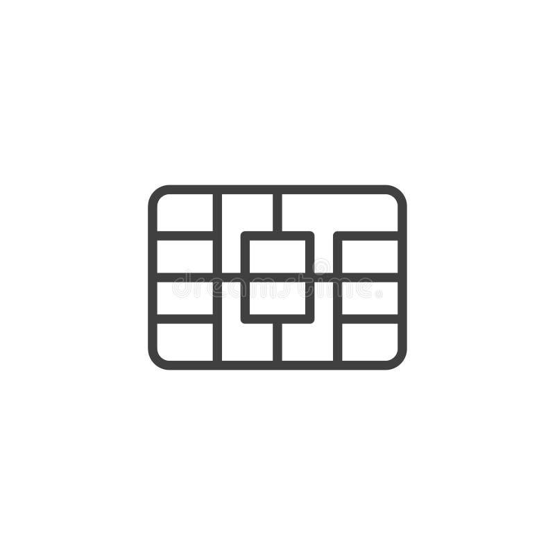 Simkaart ine pictogram royalty-vrije illustratie