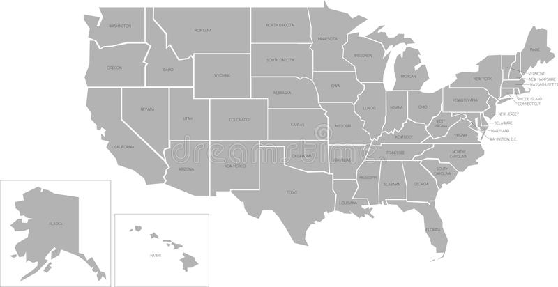 download simlified vector map of usa stock vector illustration of states full 41013660