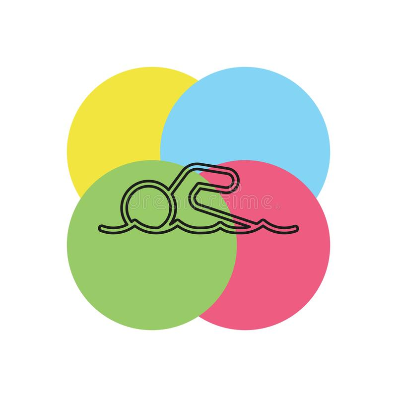 simma vektorsymbolen royaltyfri illustrationer