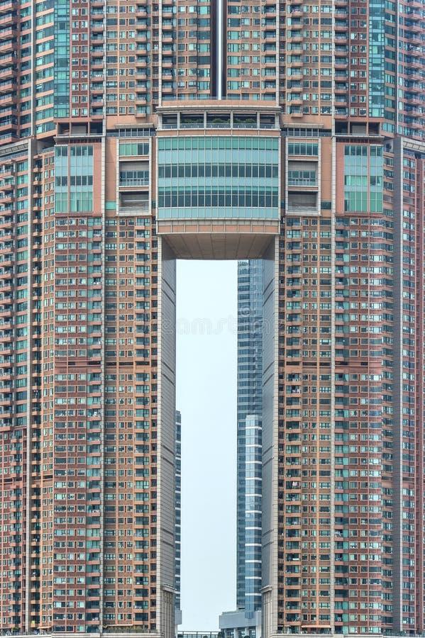 Simmetria di una costruzione in Hong Kong fotografia stock libera da diritti
