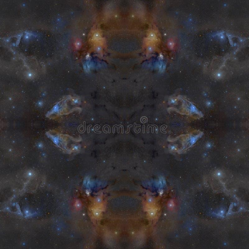 Simmetric bakgrund f?r universum Best?ndsdelar av denna avbildar m?blerat av NASA royaltyfri foto