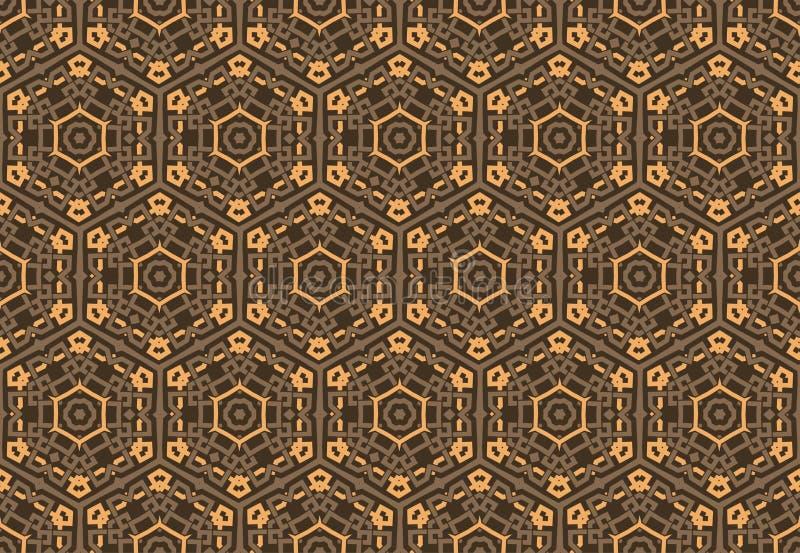 Simmetrie decorative del modello senza cuciture, illustrazione di vettore del modello dell'ornamento royalty illustrazione gratis