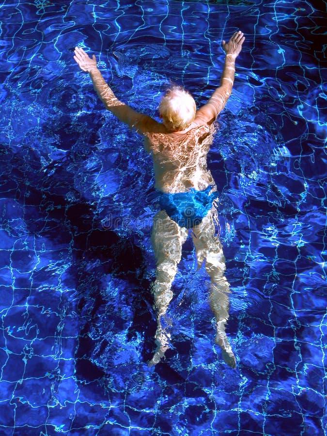 Simning Arkivfoto