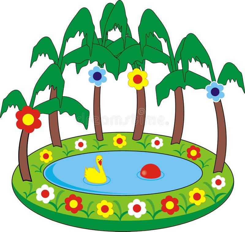 simning för pöl s för barn uppblåsbar vektor illustrationer