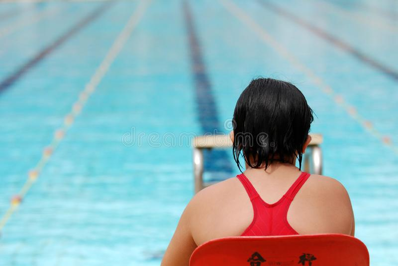 Simningkonkurrens royaltyfri fotografi