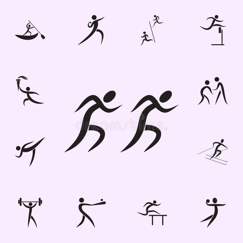 Simningsymbol Best?ndsdelar av idrottsmansymbolen H?gv?rdig kvalitets- symbol f?r grafisk design Tecken och symbolsamlingssymbol  vektor illustrationer