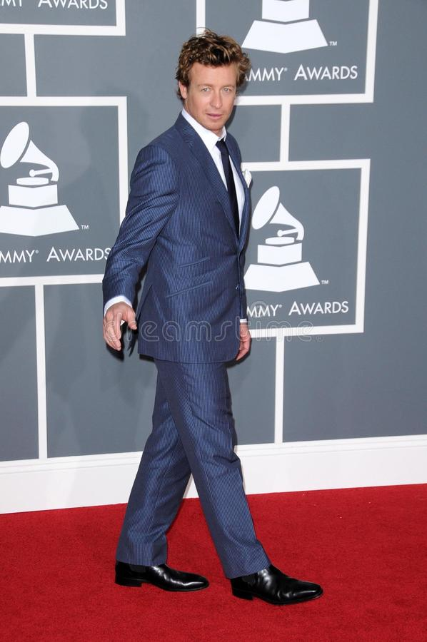 Download Simon Baker editorial stock image. Image of awards, center - 23751284