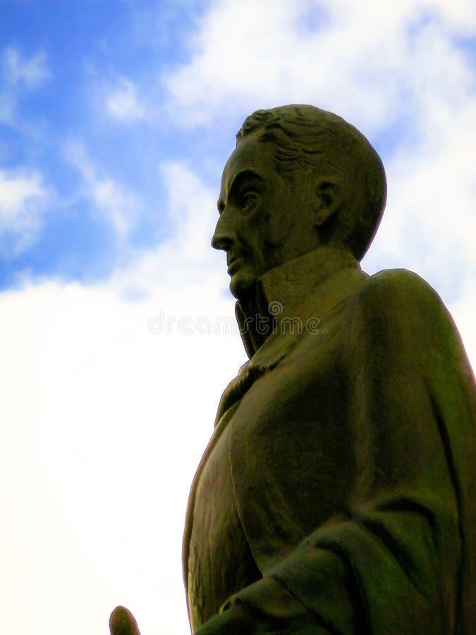 Simon Bolivar liberator. Sculpture of Simon Bolivar royalty free stock images
